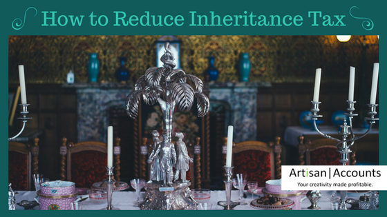 picture of dining table laid with ornate silverware and the title, How to Reduce Inheritance Tax