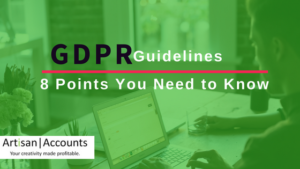 Title image saying GDPR Guidelines - 8 Points You Need to Know.