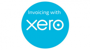 Xero logo with the words Invoicing with Xero