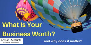 Image of hot air balloons in bright blue sky, with title What is Your Business Worth?