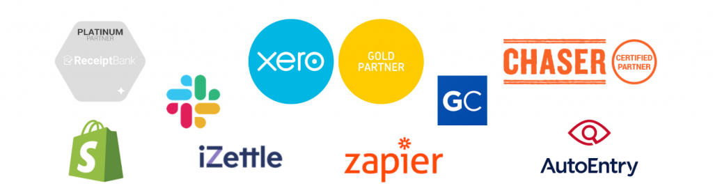 logos of some of the apps that we use at Artisan Accounts