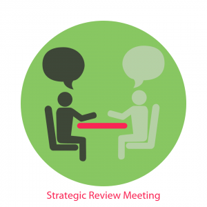 illustration of two people meeting at a table